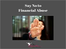 Say No to Financial Abuse