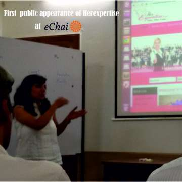 Presentation of Herexpertise at eChai