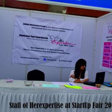 Stall of Herexpertise at StartUp Fair 2015 2