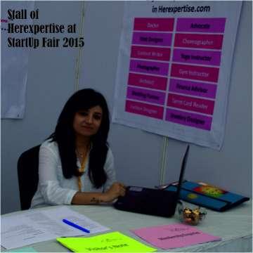 Stall of Herexpertise at StartUp Fair 2015